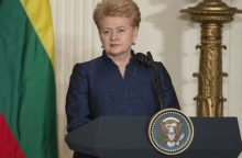 D. Grybauskaitė ir toliau išlaiko didžiausią visuomenės pasitikėjimą