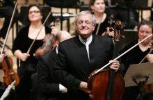 Violončelininkas D. Geringas mini 70-mečio jubiliejų