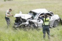 Girtus keleivius vežęs vairuotojas įlėkė į griovį