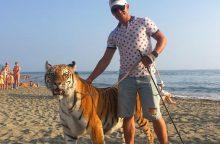 Nuogalius šokiravo tigras