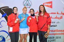 Badmintonininkės G. Voitechovskajos dvigubas triumfas Egipte