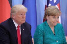 A. Merkel dėl Šiaurės Korėjos aiškiai nesutinka su D. Trumpu