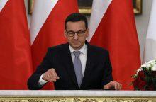 Naujasis Lenkijos premjeras nežada vyriausybės politikos pokyčių