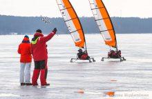"""Europos """"Ice-blokart"""" ledrogių čempionate – ir gamtos pokštai"""