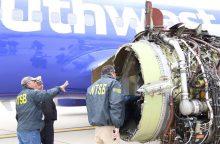 """Po """"Southwest Airlines"""" incidento JAV ir Europa tikrins lėktuvų variklius"""