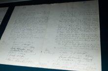 Europos istorijos muziejui – Lietuvos nepriklausomybės akto kopija