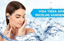 Kas yra micelinis vanduo ir kaip jį naudoti?