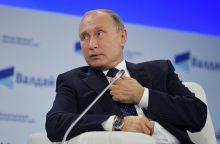 """V. Putinas nurodė imtis specialių priemonių dėl """"nedraugiškų Ukrainos veiksmų"""""""