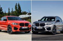 """Sportiškųjų """"BMW M"""" gamintojai pristatė dvi naujienas visureigių gerbėjams"""