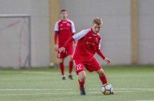 """Į Lietuvos futbolo rinktinę pakviestas """"Sūduvos"""" 19-metis: labai nustebau"""
