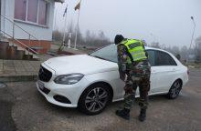 """Baltarusis vogtu """"Mercedes-Benz"""" į Lietuvą taip ir neįvažiavo"""