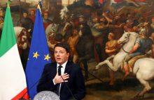 Italijoje patvirtinus biudžetą atveriamas kelias premjero atsistatydinimui