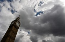 Danguje pastebėtas D. Britanijos žemėlapio formos debesis