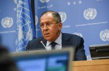 S. Lavrovas paaiškino, kodėl JAV nesmogs Šiaurės Korėjai