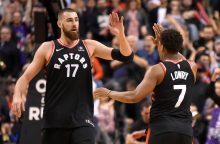 """NBA: """"Raptors"""" ir """"Spurs"""" mače – J. Valančiūno proveržis"""