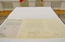 Nuo sekmadienio Vasario 16-osios akto originalas – Signatarų namuose