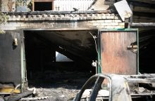 Per sprogimą garažų komplekse Panevėžyje žuvo žmogus