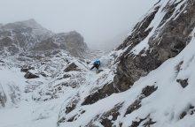 Bendražygio netekęs alpinistas: jį galėjo numušti iš viršaus atskridęs akmuo