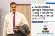 E. Misiūnas kreipėsi į prokuratūrą dėl šmeižto interneto portale