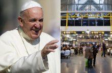 Visų maldininkų prašoma nevykti popiežiaus pasitikti į oro uostą