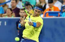 R. Nadalis žengė į Sinsinačio turnyro ketvirtfinalį
