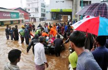 Indijos pietuose potvynių aukų skaičius šoktelėjo iki 324