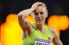 Olimpinį medalį gausianti A. Skujytė: jausmas labai fainas