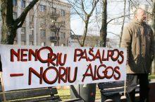 Pirmąjį ketvirtį šalyje surengti 242 streikai