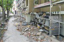 Dingę statybininkai išgąsdino gyventojus