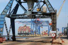 Į regiono uostus plūstelėjo konteineriai