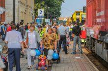 Geležinkelininkai miestiečiams dovanojo šventę