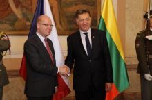 Lietuva ir Čekija sutarė stiprinti partnerystę