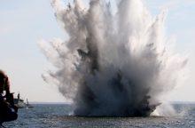 """Prie Latvijos krantų prasidėjo tarptautinė minų paieškos operacija """"Open Spirit"""""""
