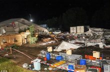 Austrijoje per audrą žuvo du žmonės, 120 sužeista