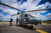 Lietuvos sraigtasparnis skubėjo į pagalbą kelte sunegalavusiam vokiečiui