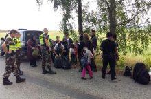 Ignalinos rajone sulaikyta 20 migrantų iš Irako ir Afganistano