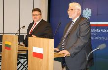 Lietuva ir Lenkija stiprins bendradarbiavimą
