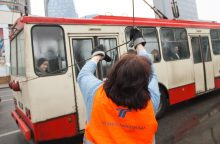 Sostinės troleibuse susižalojo keleivė