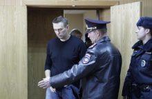Kremliaus kritiko A. Navalno padėjėjams skirti areštai ir baudos