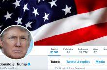 Teisėja: D. Trumpas negali blokuoti savo kritikų tviteryje