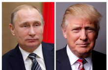D. Trumpas telefonu pasveikino V. Putiną su pergale