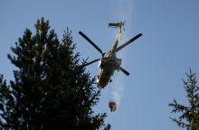 Latvijoje toliau gesinamas didelis miško ir durpyno gaisras