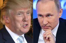 Baltieji rūmai ieško, kas nutekino informaciją apie D. Trumpo sveikinimą V. Putinui