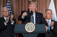 D. Trumpas nusitaikė į B. Obamos kovos su klimato kaita priemones