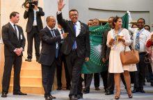 Etiopijos politinis veikėjas T. Adhanomas išrinktas PSO vadovu
