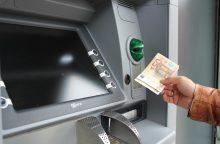 Bankomato parduotuvėje apvogti nepavyko
