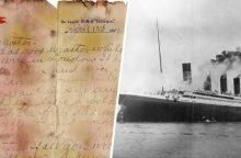 """Aukcione – nuskendusio """"Titaniko"""" keleivio laiškas motinai"""