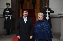 Vengrijos prezidentas: galėtume importuoti dujas iš Lietuvos