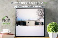 Pastatytas pirmasis Lietuvoje A++ klasės gyvenamasis namas