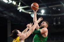 Lietuvos krepšinio rinktinė kontrolinėse rungtynėse sutriuškino Rumuniją